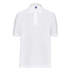 THURSO HIGH SCHOOL WHITE  POLO SHIRT WITH LOGO